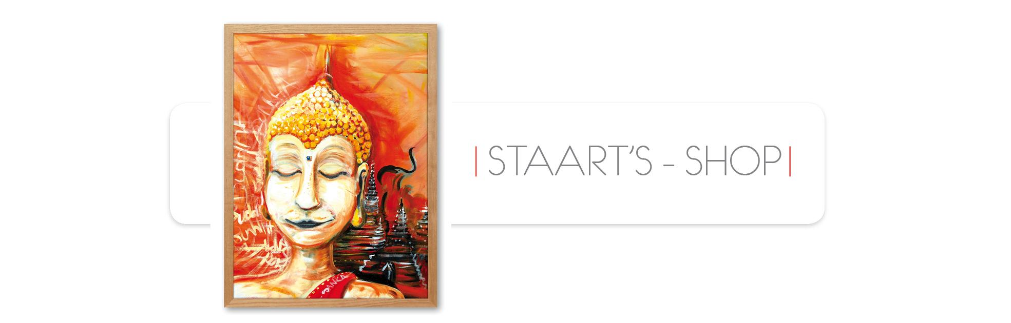 Thaïlande, budha, tableau, peinture