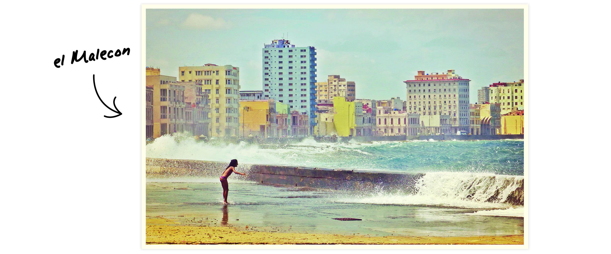 cuba, caraïbes, voyage, île, Havana, la havane, el malecon, mer, enfant, cubaine, vague, immeuble,