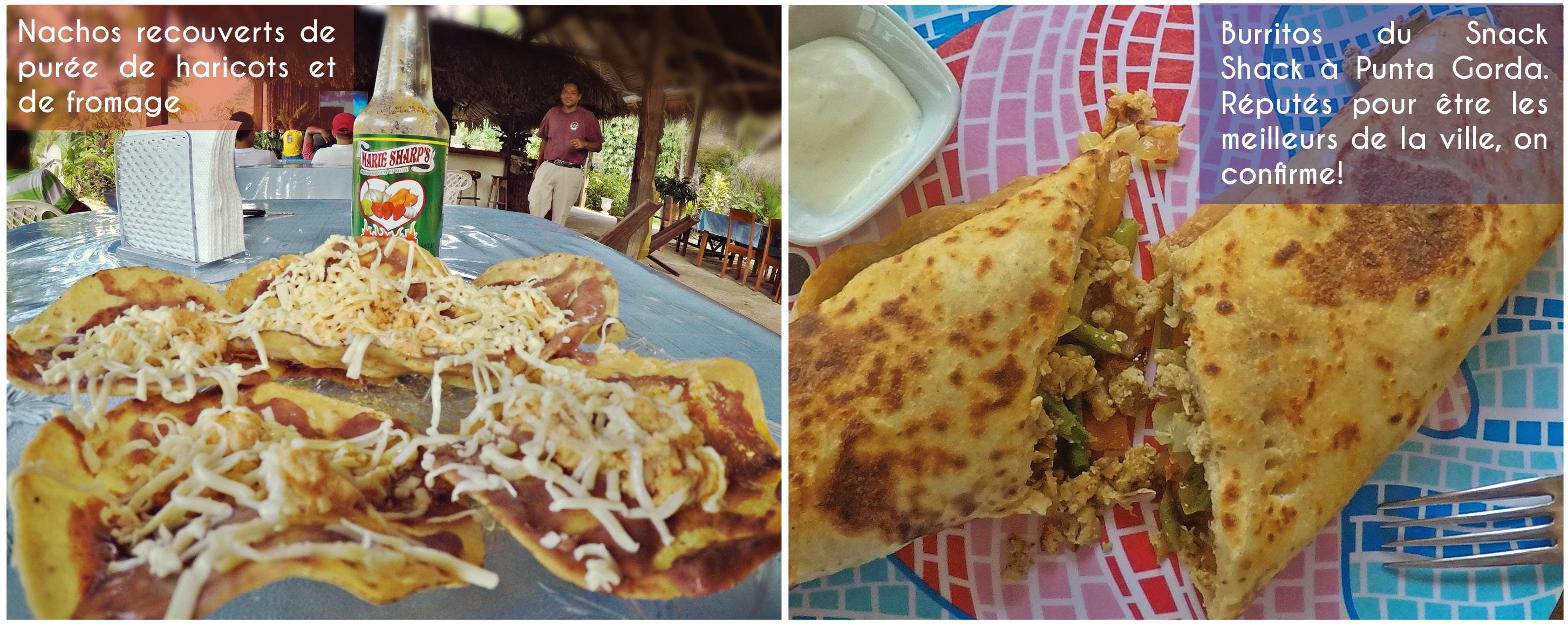 belize, cuisine, nachos, burritos, mexique, mexicains, tortillas