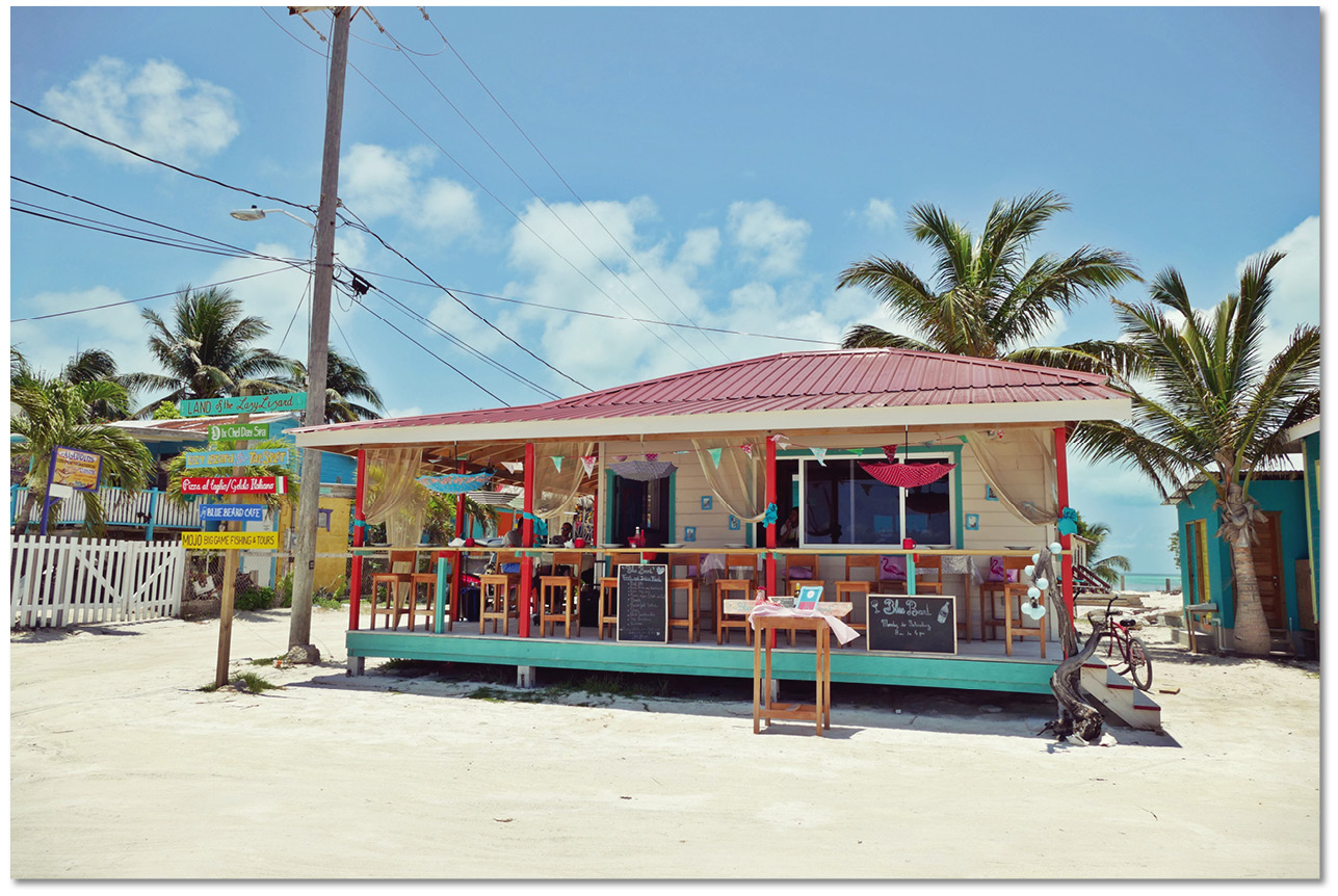 belize, voyage, interview, restaurant, blue beard, francais, caye caulker, plats, vin
