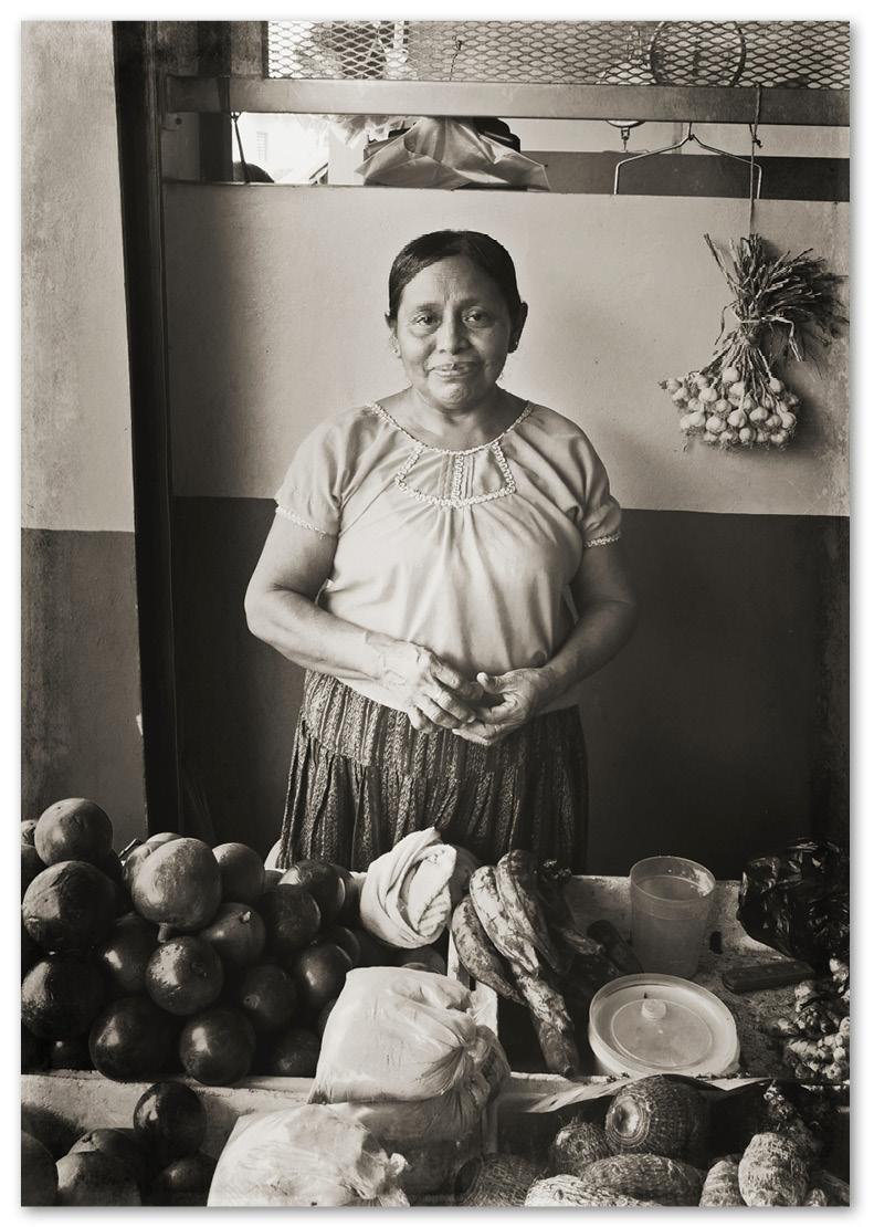 punta, gorda, portrait, maya, voyage, fruits, legumes, Belize, marché