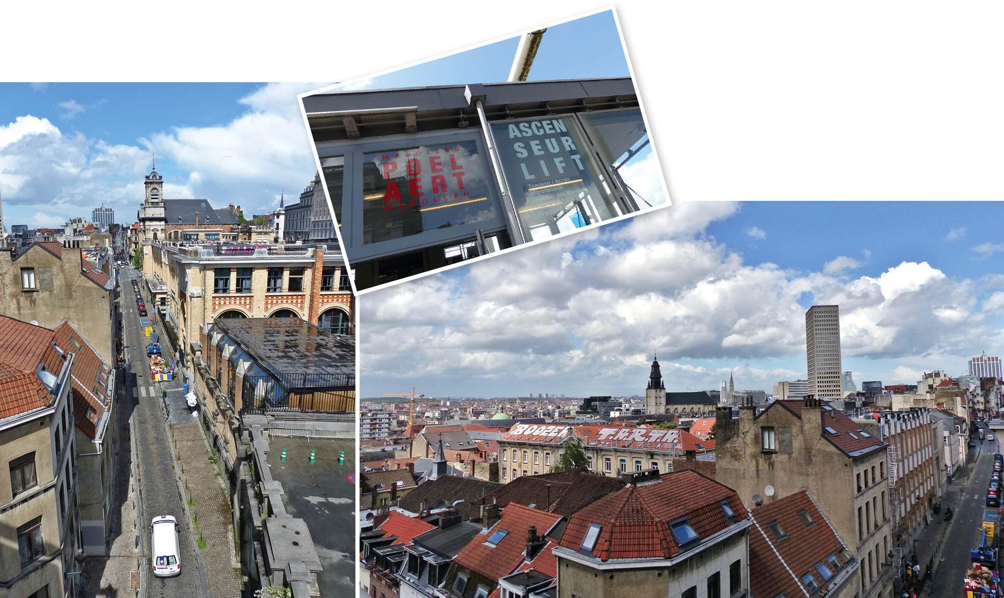 Bruxelles, europe, Belgique, ascenseur, ville, vue