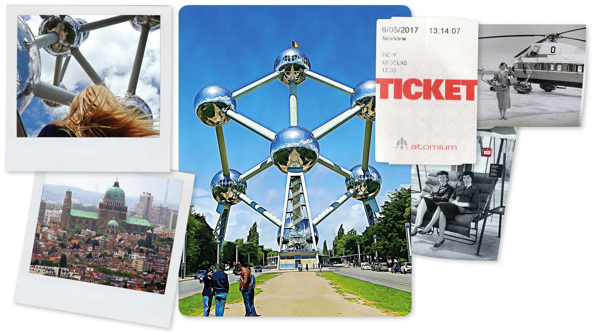 Bruxelles, europe, Belgique, Atomium, boules, musée, ticket, ville, attraction