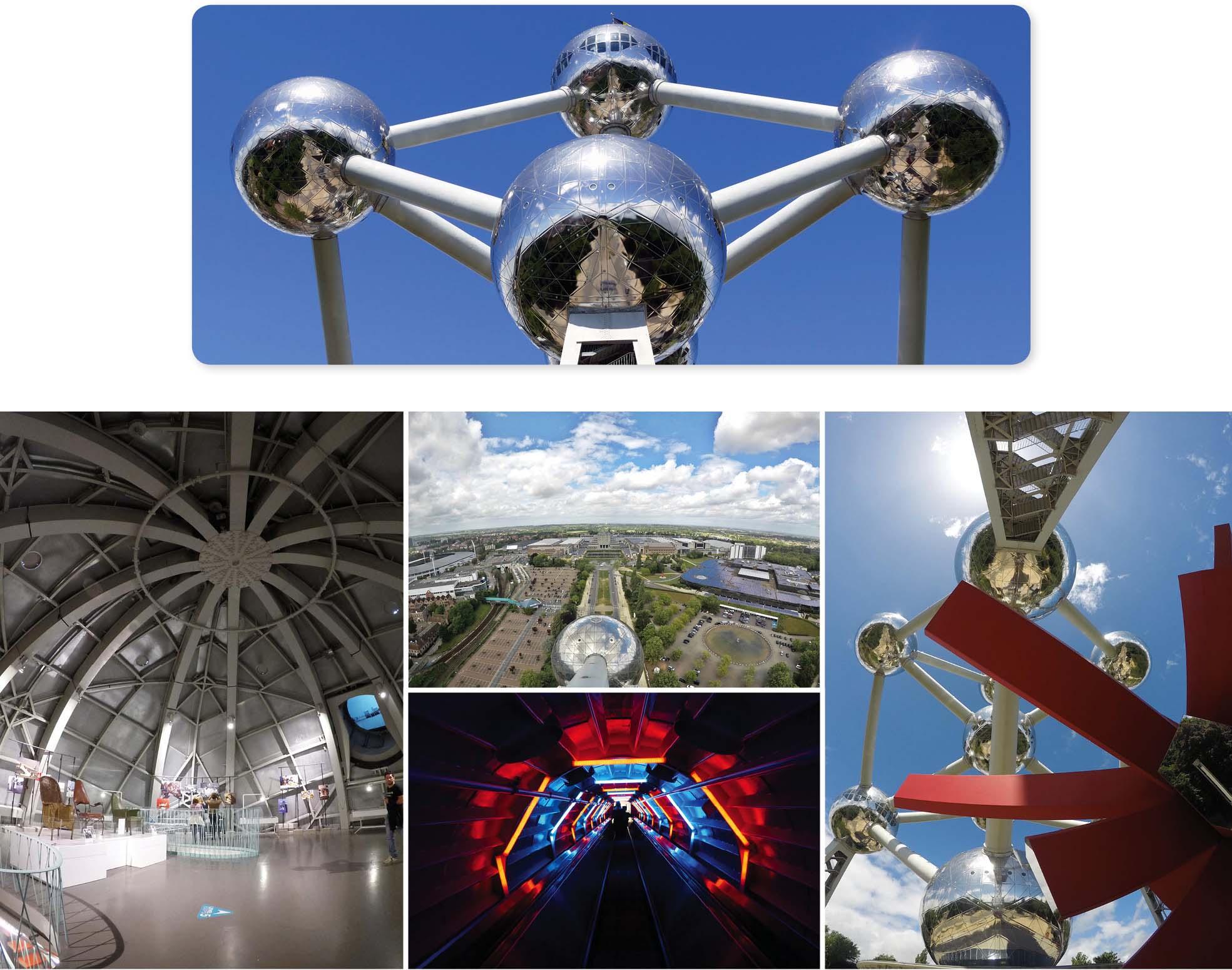 Bruxelles, europe, Belgique, Atomium, boules, musée, ville, attraction