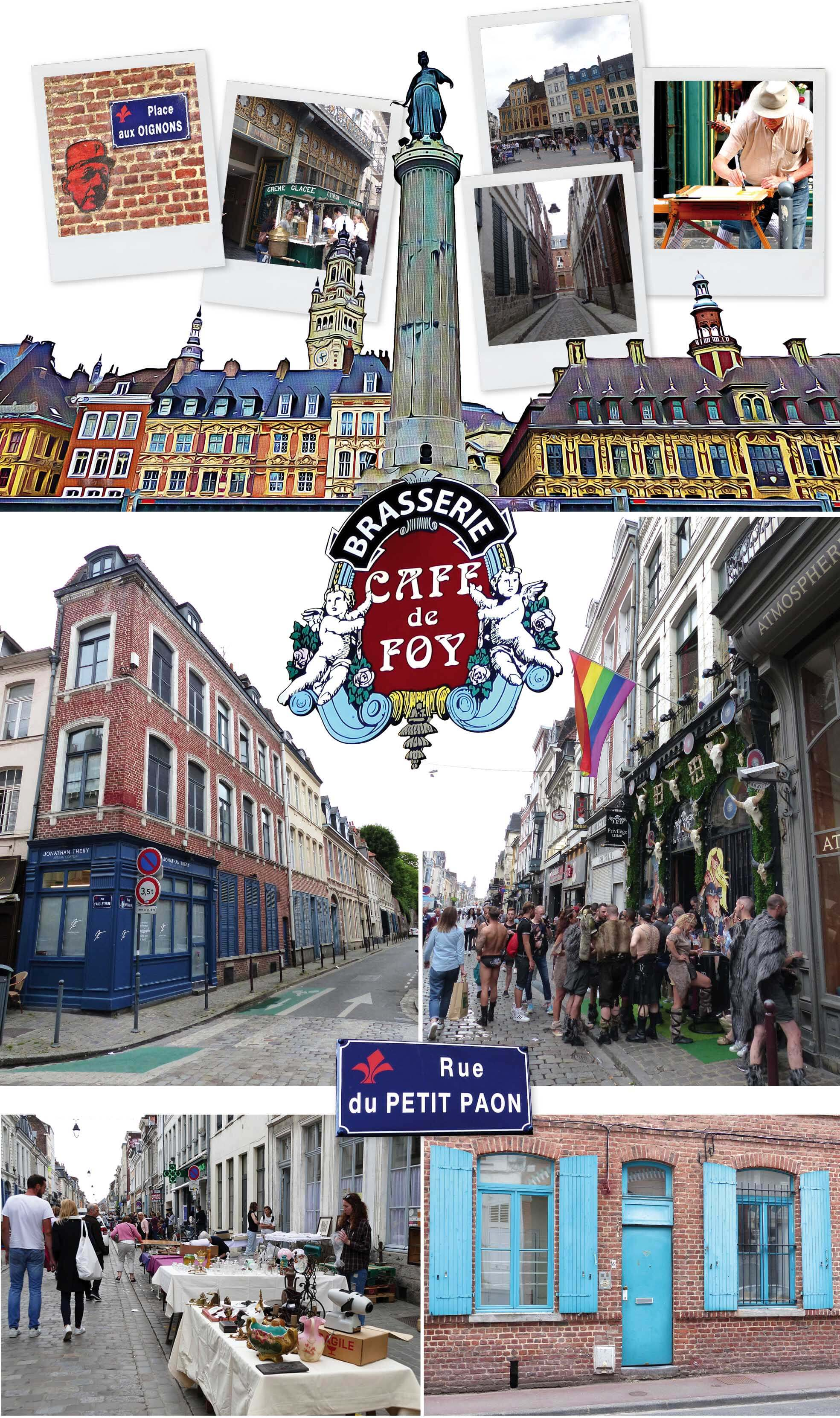 europe, France, road trip, voyage, ville, capitale, briques, lille, nord, grande place, artiste, brocante, brasserie, rue