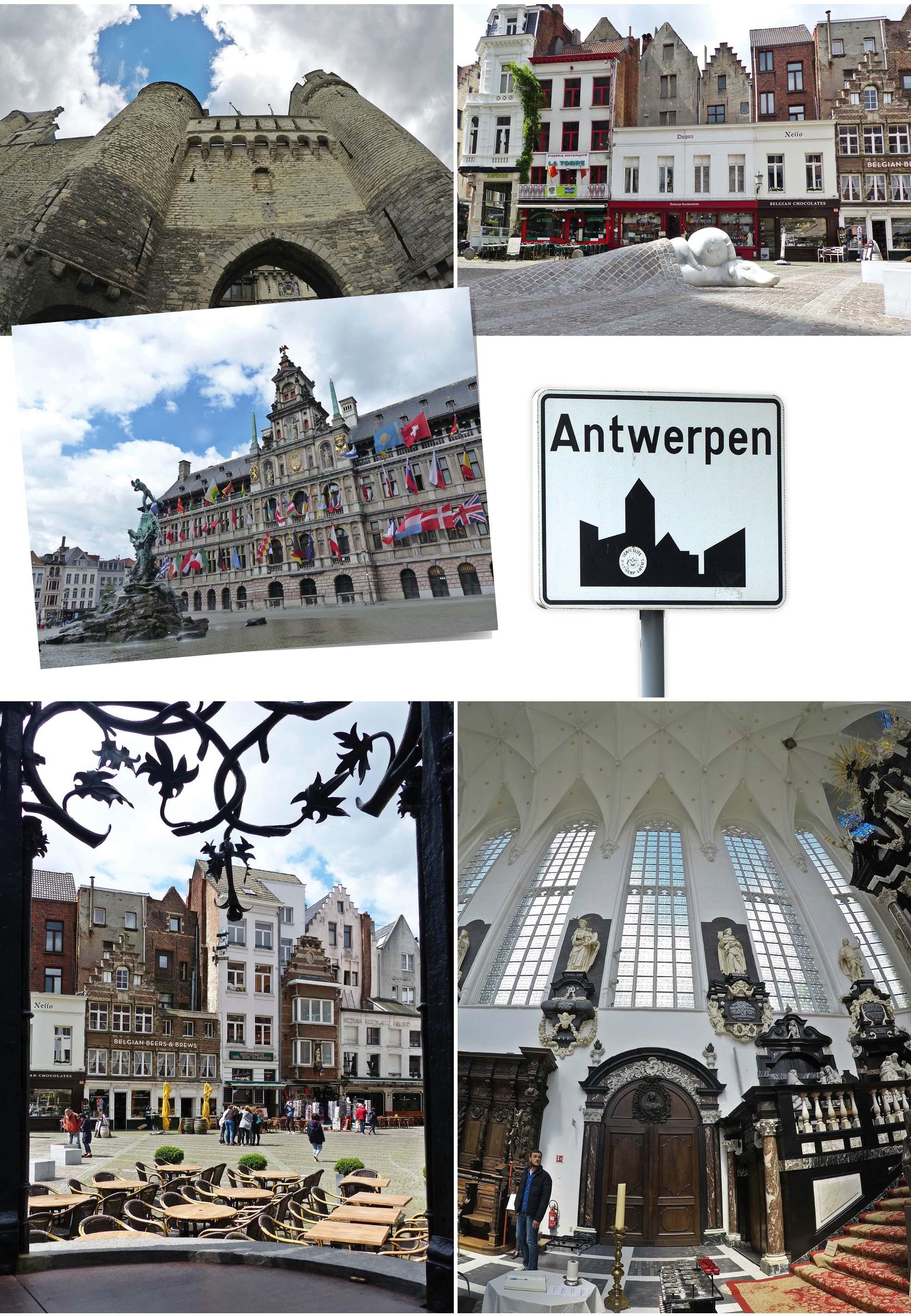 europe, France, road trip, voyage, ville, Anvers, Belgique, chateau, statue, pont, pavé, histoire, drapeau, panneau, Antwerpen, église
