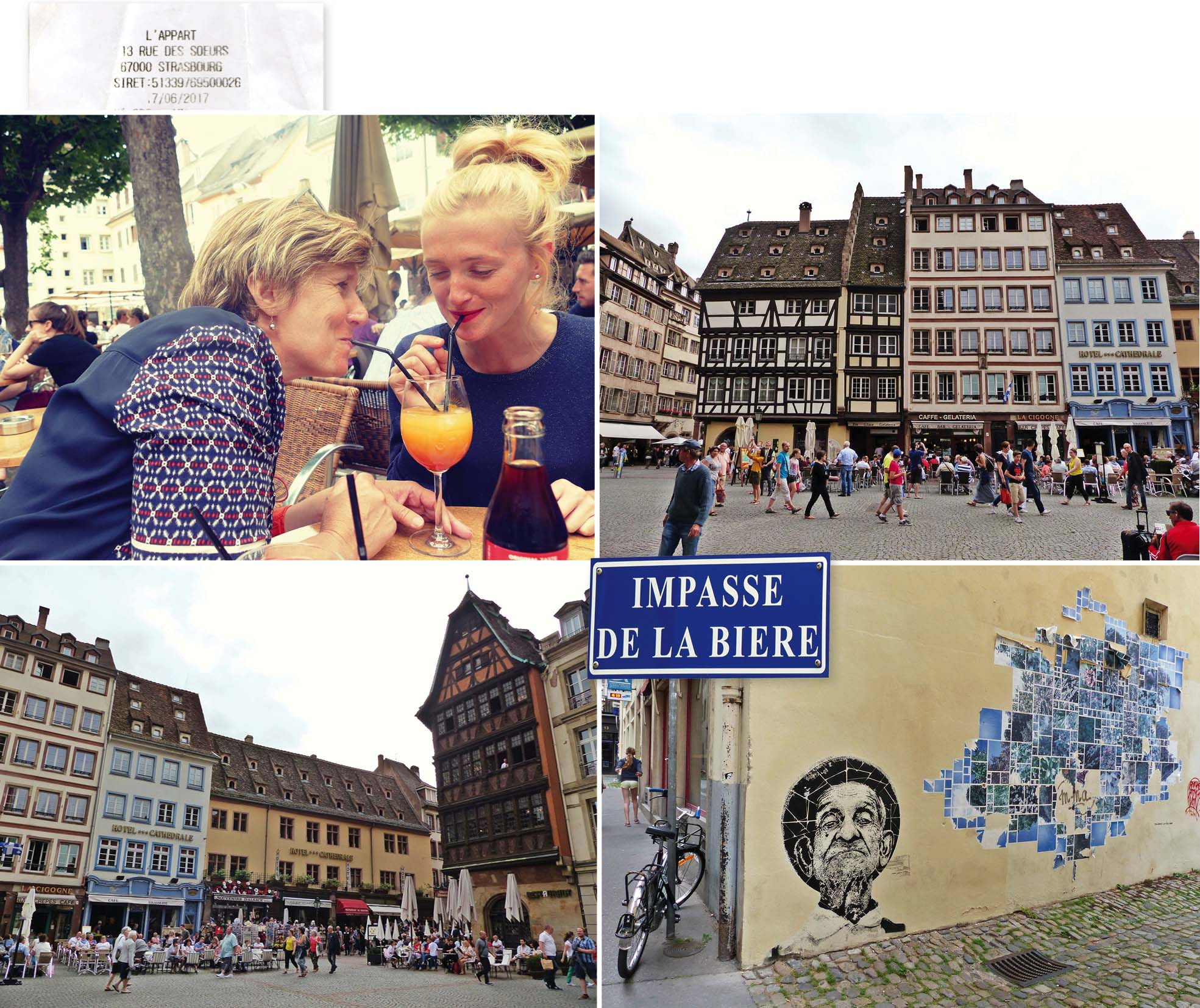 europe, France, road trip, voyage, ville, Strasbourg, cathédrale, cocktail, bière, place, rue