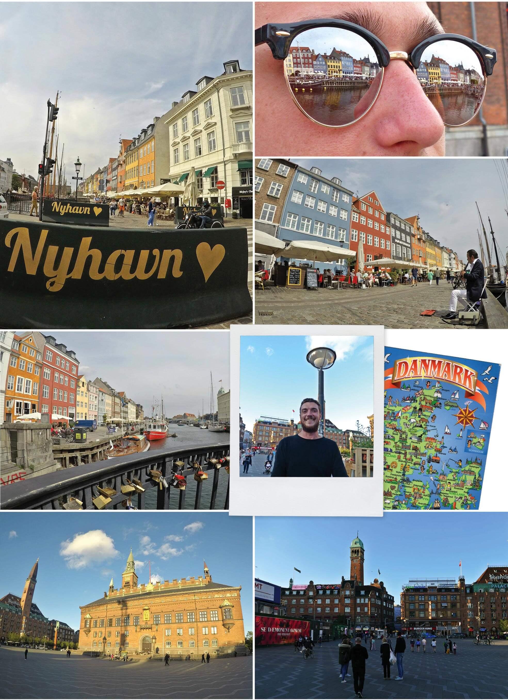 copenhague, danemark, Denmark, nyhavn, bateaux, canal, voyage, europe, lunettes de soleil