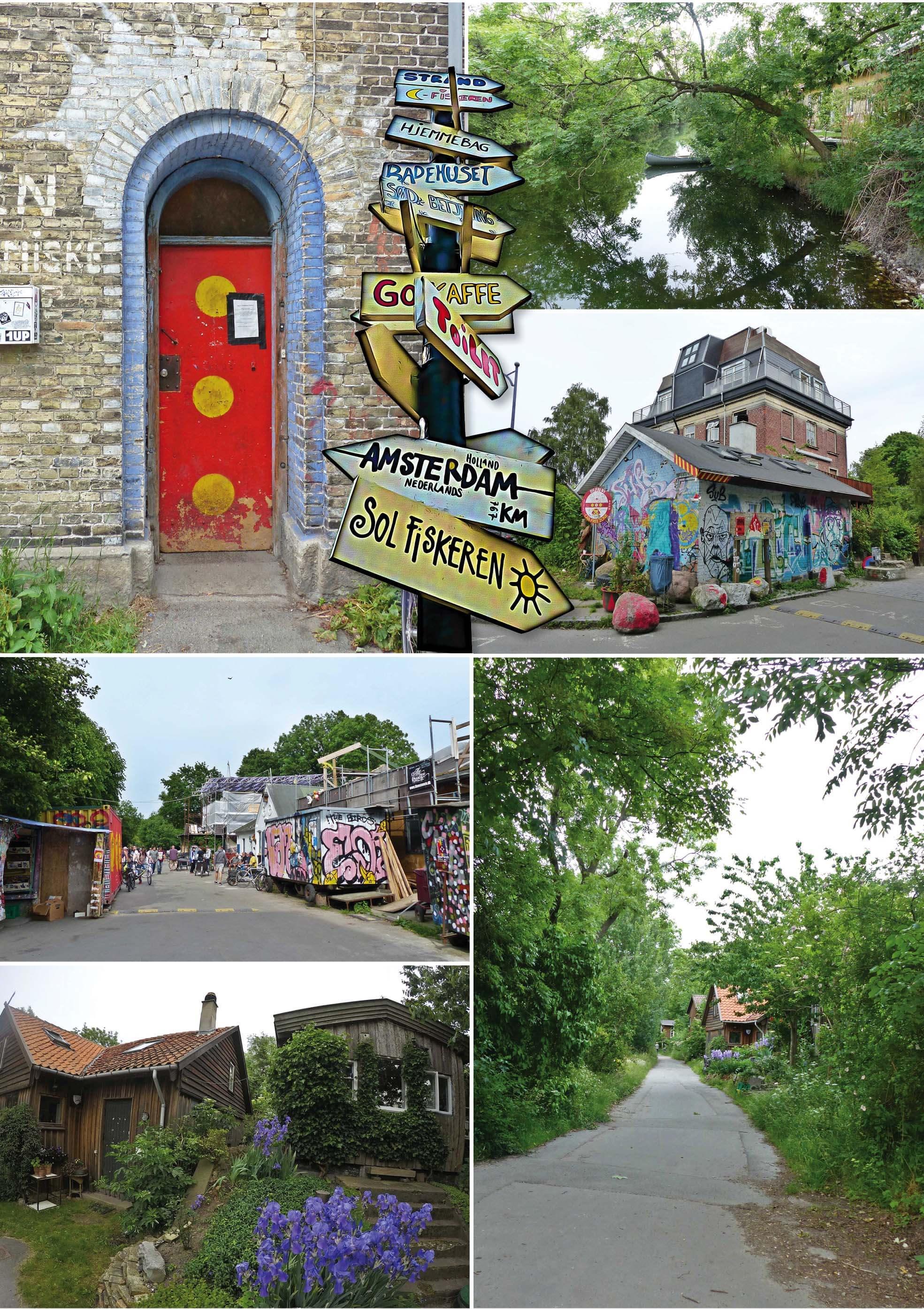 copenhague, danemark, Denmark, voyage, europe, christiania, velos, hippies, street art, art, tag, maison