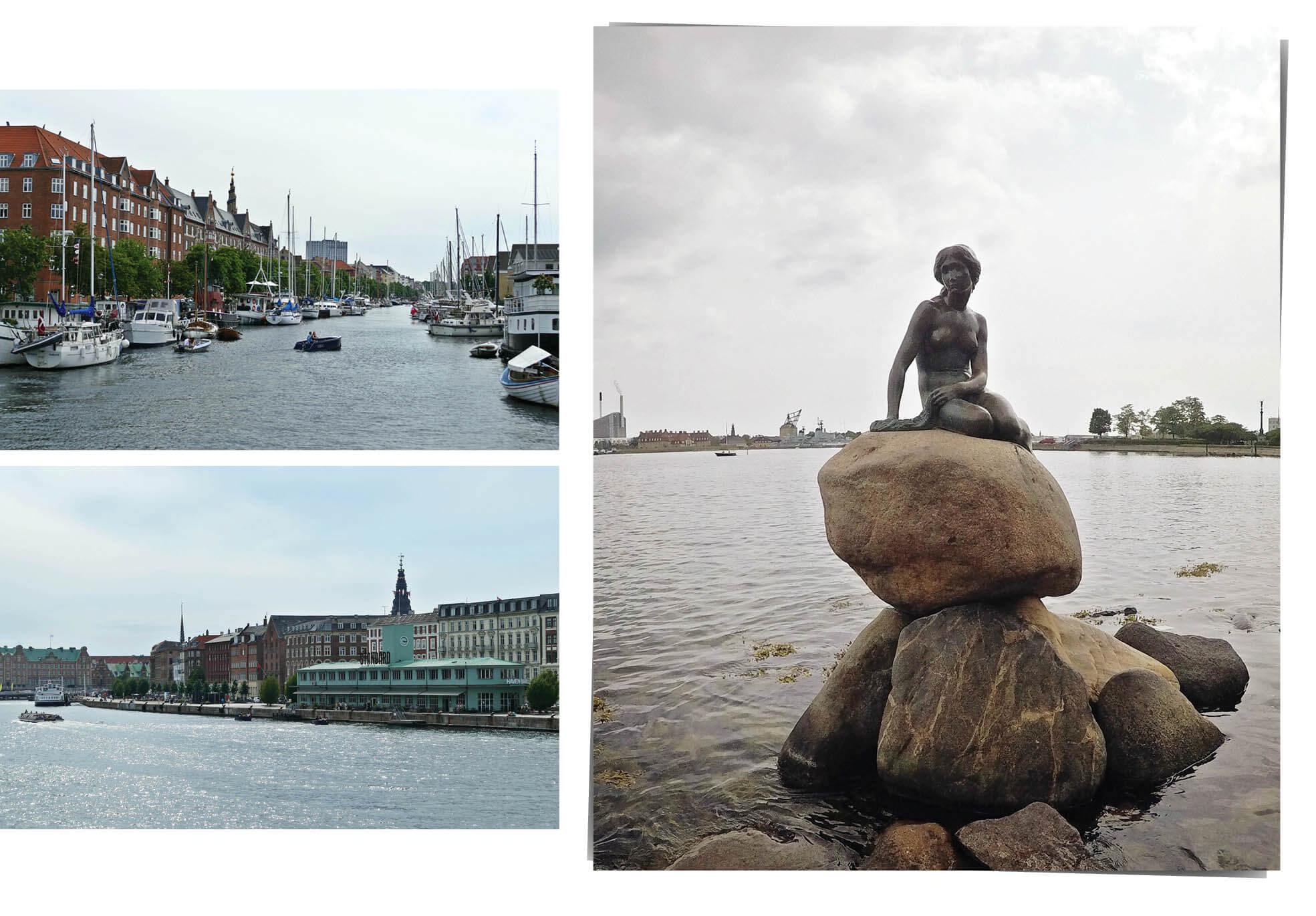 copenhague, danemark, Denmark, voyage, europe, bateaux, rivière, la petite sirène, Andersen