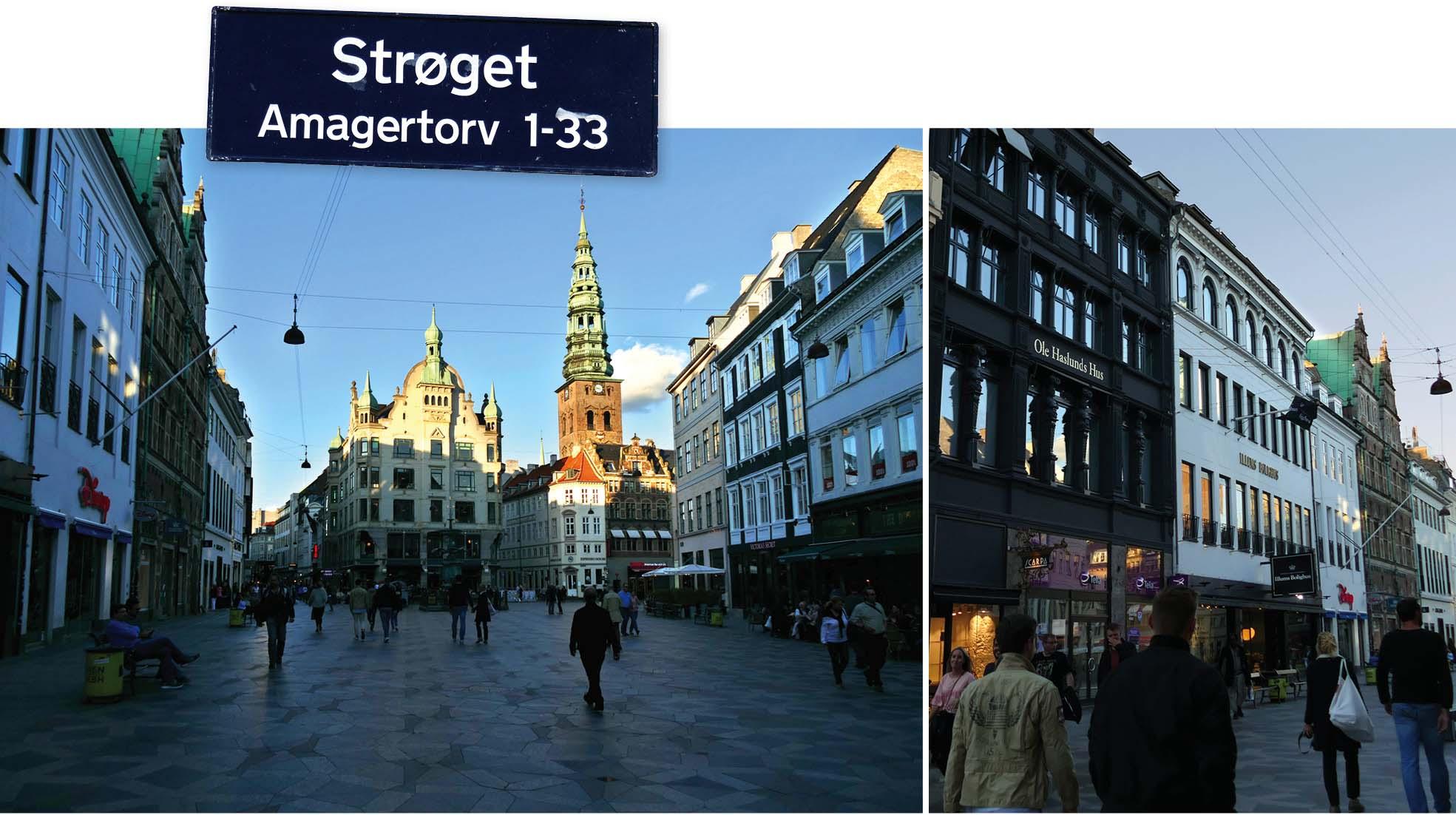 copenhague, danemark, Denmark, voyage, europe, strøget, rue, ville, magasins, shopping
