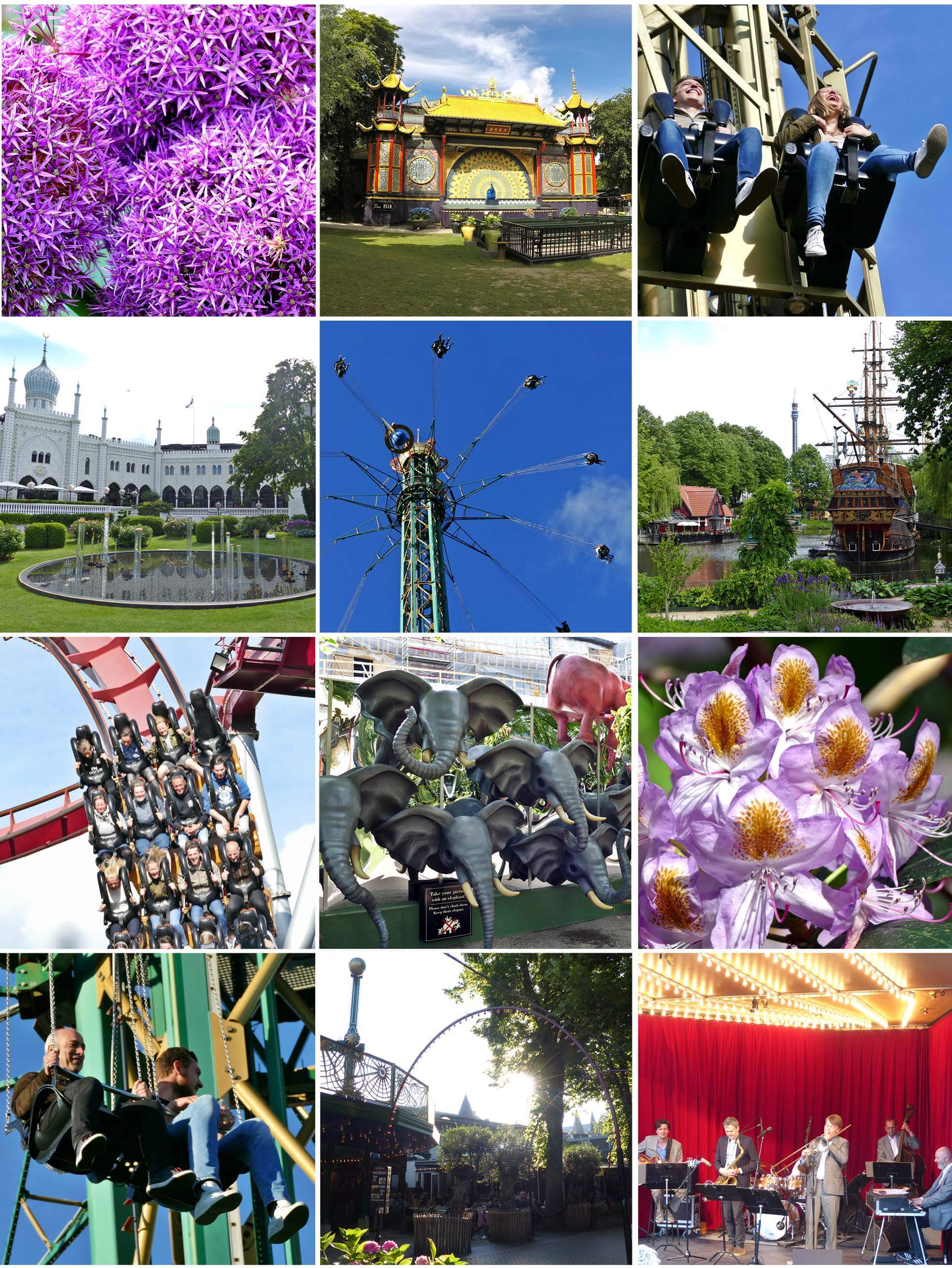 copenhague, danemark, Denmark, voyage, europe, tivoli, garden, attraction, fleurs, jardin