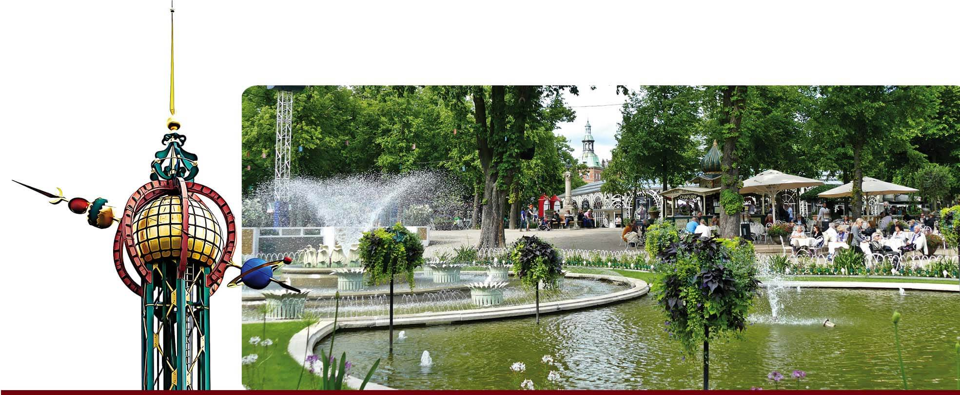copenhague, danemark, Denmark, voyage, europe, tivoli, garden, attraction, fleurs, jardin