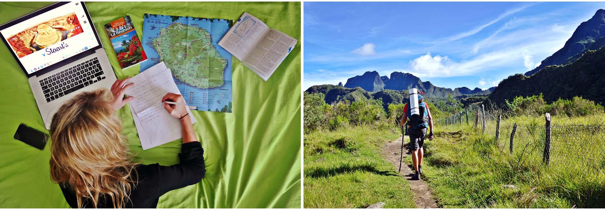 la réunion, la reunion, île, ile, randonnées, randonnées, marche, trek, montagne, nature, sac à dos, cirque, mafate, salazie, cilaos